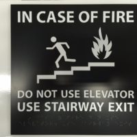 ADA and Interior Signs - 02 - stairway exit