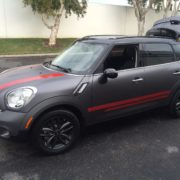 Vehicle Color Change - 09 - After - Minicooper Wagon Matte Gray Stripes