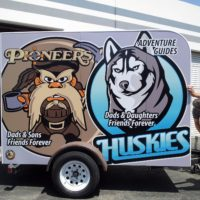Vehicle Lettering and Decals - 04 - YMCA Huskies Trailer Camping Tustin