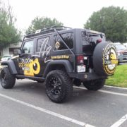 Vehicle Wrap - 29 - Partial Jeep wrangler Wrap tustin