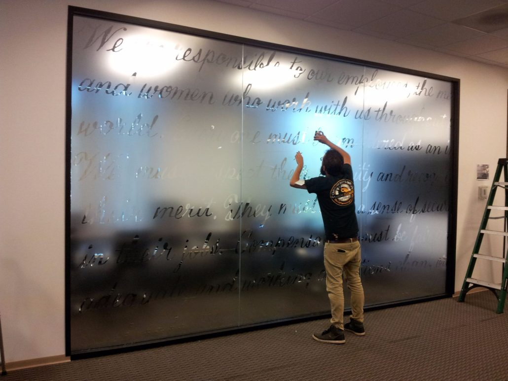 Window Wall Floor Graphics Black Parrot Signs